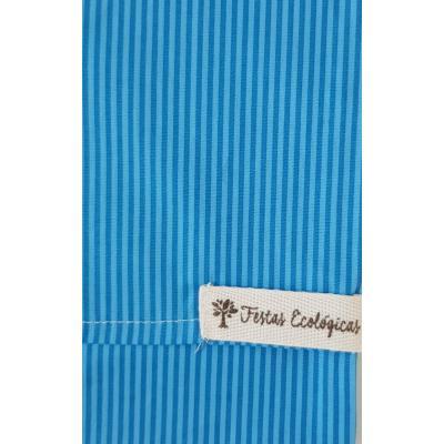 Capa de Almofada Azul Listrada