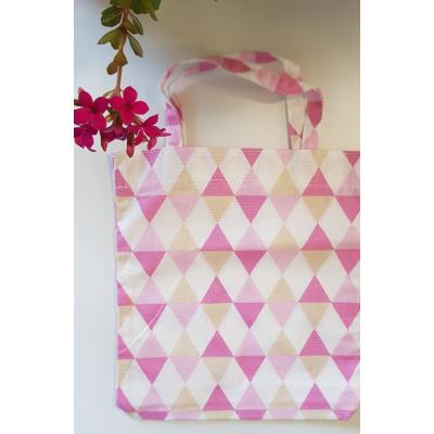 Ecobag Triângulos Rosa